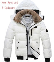 New 2013 Male winter down cotton-padded jacket fashionable casual outerwear men's clothing wadded jacket overcoat