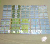 2013 New 20Desgins Noctilucent Nail Art sticker Patch Foils wraps Decoration Decals for Fingers toes