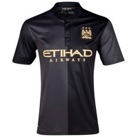 Top Thai version 13-14 latest Manchester city away soccer uniform shirt with short sleeves