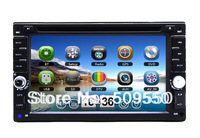 "Universal 2 Two Din 6.2"" inch Touch Screen Car DVD Player with GPS, Radio, IPOD,Stereo,USB,SD,Bluetooth,TV"