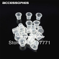 100pcs 13mm Medium Size  Plastic Disposable Tattoo Ink Holder Cups Pigment Supplies Permanent Makeup