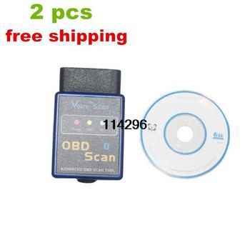 2pcs/lot Lower price ELM327 Vgate Scan Advanced OBD2 Bluetooth Scan Tool freeshipping
