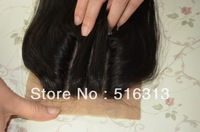Queen hair products closure 3 way part Free Shipping Brazilian Virgin Hair straight Silk base Lace Closure