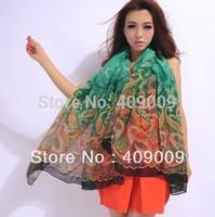 free sipping fashion cotton voile bohemian cashew flower print women scarf/fashion head shawls100*180cm