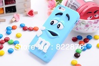 The new Lovely Chocolate beans M Rainbow Beans beans Back cover Case for iphone 4 4s 5 5g 5s Free Shipping