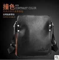 2013 fashion man bag casual shoulder bag 100% cowhide genuine leather messenger bag handbag free shipping