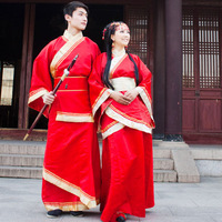 Costume red hanfu costume lovers costumes