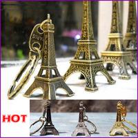 10pcs/lot Fashion Classic French France Souvenir Paris 3D Eiffel Tower Keychain Keyring Key Chain Ring