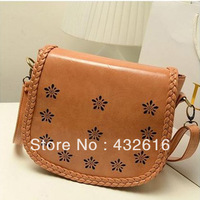 Free shipping  Women's PU Leather Messenger bag  ,Korean style  ,Casual  Woven Single Shoulder bag, fashion Ladies bag
