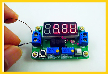 5pcs/lot dc dc step down 4.5-24V to 1-20V 2A Converter Constant Voltage Current with LED Volt Ammeter
