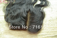 Cheapest virgin side part brazilian bodwave hair lace top closure 4x4 swiss lace closure bleached knots,Free ship