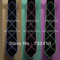 Diy dance party tie led luminous tie general hiphop clothes accessories