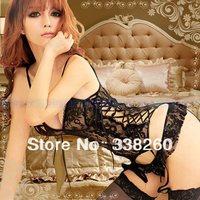 Hot Lace Sexy Lingerie hot sexy Underwear costumes Sleepwear erotic lingerie clothing set kimono Garter Belt G-string Stockings