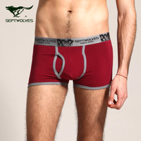 Septwolves male panties male trunk 100% cotton loose plus size male panties u bags boxer shorts