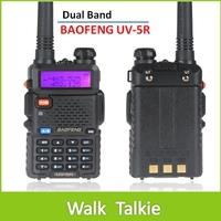2 piece BaoFeng UV5R Dual Band VHF 136-174MHz / UHF 400-480MHz 5W 128CH Walkie Talkie 2 Way radio with LCD Display