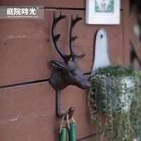 Free shipping Fashion vintage deer large hooks European rural retro iron hooks / wall hanging decorative wall hooks coat hooks