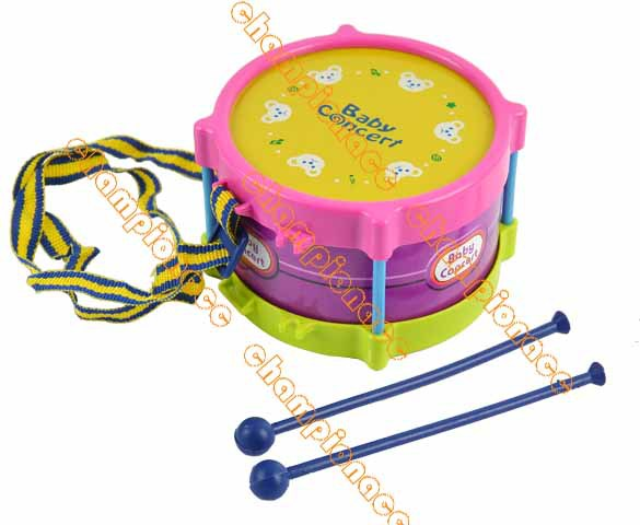 New 2014 5pcs Roll Drum Musical Toy Instruments Band Kit for Kids Children and Baby Gift Set 8840(China (Mainland))