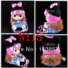 mickey fotos de malha crochet tampões padrão chapéu do bebê inverno caráter crochet novas nascidos acessórios asseclas beanie acrílico(China (Mainland))