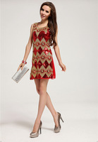 Free Shipping, evening dress 2013 new arrival, beautifu Sequin l flower formal dress, paillette gorgeous dress LM6018ES