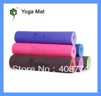 Yoga 183cm lengthen thickening yoga mat tpe eco-friendly 6mm yoga mat slip-resistant yoga mat,free shipping