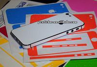Free Shipping Glitter Sparkly Bumper Edge Full Skin Sticker Decal for Apple Glitter Brilliant Skin for iPhone Full Sticker