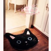 Bath Mats toilet mat black and  white by dream cat slip-resistant Lovely Bath Mat