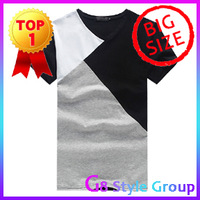 XXXXXL Men's Big Size 2013 New Brand Short Polo T Shirt For Men's T Shirt Clothes Contract Color New Fashion