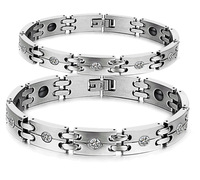 New 2014 Healing Magnetic Stainless Steel Bracelets & Bangles For Men & Women Handmade Attractive Men Jewelry Energy Balance3339