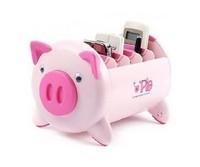 Free shIpping !!pink pig style storage box remote control storage rack desktop sundries finishing box