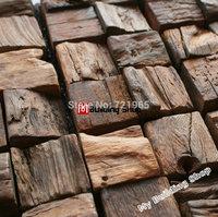 Natural wood mosaic tile NWMT043 wood mosaics kitchen backsplash tile strip wood mosaic wall pattern wood mosaic wall design