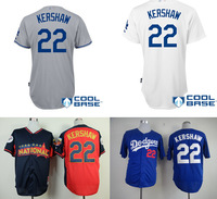 Free shipping Los Angeles Dodgers Jersey #22 Clayton Kershaw white,gray,blue,black Baseball Jerseys wholesale in china