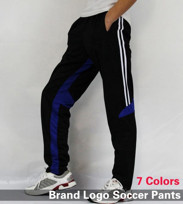 New 2014 Men Brand Logo Soccer Pants Skinny Sports Professional Football Training Pant Team Fitness Training Sweatpants(China (Mainland))