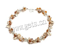 High Quality Fashion Fine Jewelry Freshwater Pearl Necklace with Crystal Necklaces for Women, Pearl Sweater Statement Necklaces