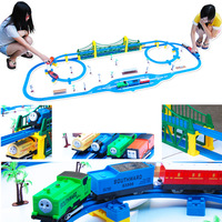 Free shipping top quality oversized thomas  train set interesting kids education toy set track hot sale best summer gifts
