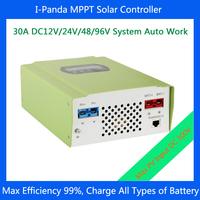 I-PANDA 30A solar charger DC12V 24V 48V 96V MPPT Charge Controller PV Regulator