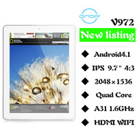 "9.7"" Onda V972 android 4.1 Tablet Pc Quad Core 2GB 16GB Dual Camera retina 2048*1536 IPS Wifi"