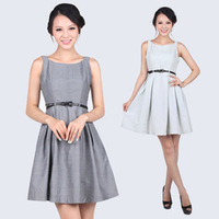 Temperament lady OL waist Slim Dress