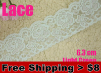 0.55$/meter.sale from 1 meter,6.3cm width Withnot elastic Lace  for fabric gray warp knitting DIY Garment Accessories #1724