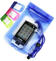 6 COLOR Phone Waterproof Durable PVC Waterproof Bag Underwater Case For iPhone 4S 4.3 Travel Transparent Pouch FREE SHIPPING