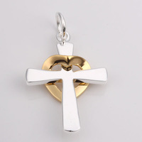 925S-P004 Free Shipping Silver Accessories Jewelry 5 pcs/ Lot Cross Charms Pendant  Mix Order Accept
