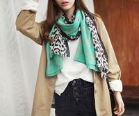 2013 new style leopard pendant  print winter women Viscose scarf big hijabs long plaid shawl  180*110