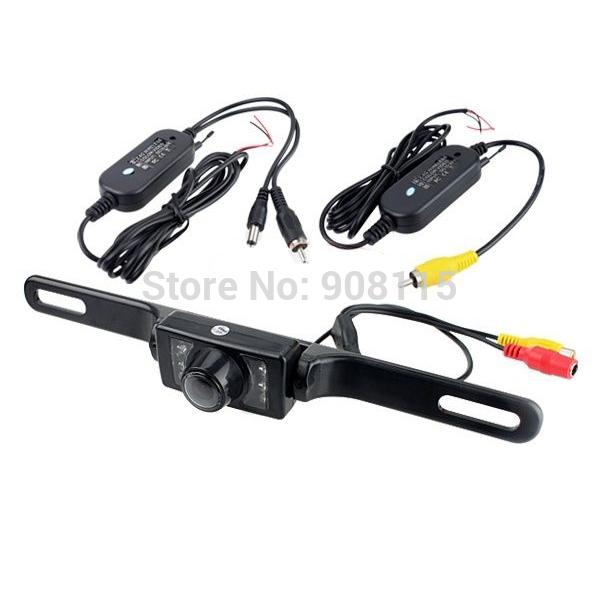2.4G Wireless Car Reverse Rear View Backup Camera 7 IR Night Vision camera +Transmitter + Receiver(China (Mainland))