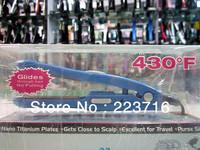 3013 Hot selling Nano Titanium Cerimic Hair Straighter Iron 1  1/2 Blue 100v-220v Free Shipping