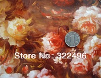 fabric for sewing leather material/bright+mirror face flower colour pattern/suitable for handbag leather