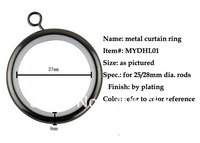 Hot !!!  high quality mute  steel eyelet  curtain rings by plating for 25/28/32mm diameter rods &protect rods wholesale
