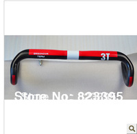 2014 Hot road bike accessories 3T carbon handlebar 31.8 * 400/420/440 red 180g free shipping