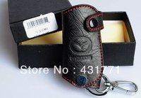 Free shipping Free Shipping 2003-2008 Mazda 3 Leather Smart Key Holder/Key Sets(2 Button)