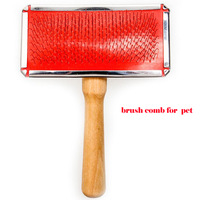 Free Shipping 2013 Lefdy new With wooden handle gill Small Air cushion brush comb for pet cat
