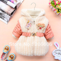 2013 best selling warm baby coats for girls long thick hooded winter jackets for kids girls