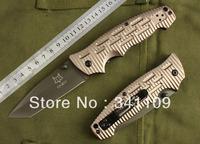 FOX Knives DA8 BROWN Tactical Folding Blade Knife Survival Outdoor Hunting Camping Combat Pocket Knife HK Free Shipping 5pcs